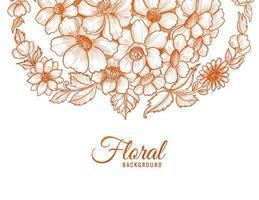 schets stijl oranje bloem design