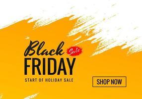 oranje penseelstreek zwarte vrijdag verkoop ontwerp