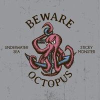 octopus t-shirt ontwerp