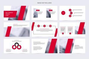 moderne rode en witte presentatiesjabloon voor het bedrijfsleven