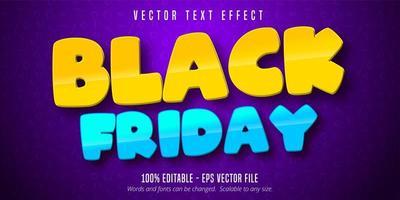 zwarte vrijdag cartoon-stijl bewerkbaar teksteffect