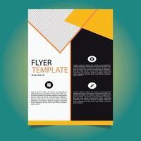 moderne gele officiële flyer-sjabloon vector