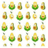 fruit en groente cartoon patroon