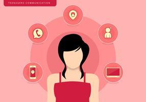 Tieners Meisje Communicatie