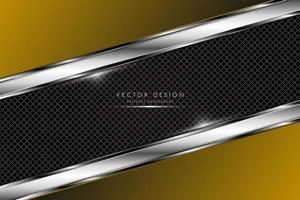 gouden metalen achtergrond met koolstofvezel textuur