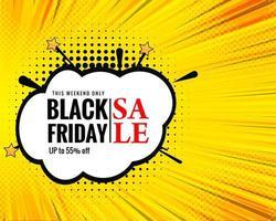 zwarte vrijdag verkoop pop-art ontwerp