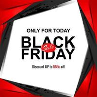zwarte vrijdag verkoop banner gesneden papierstijl