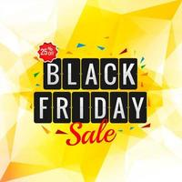 zwarte vrijdag verkoop veelhoek achtergrond