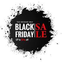 zwarte vrijdag zwarte plons verkoop ontwerp