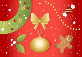 Gratis Kerst Vector Ornamenten