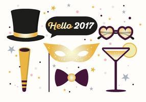 Hallo 2017 Nieuwjaar Vectorillustratie