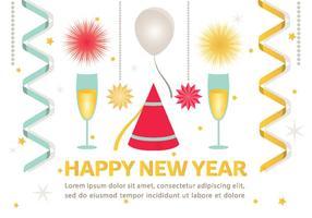 Gelukkig Nieuwjaar Vector Achtergrond