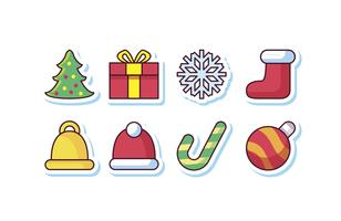 Gratis Christmas Sticker Icon Set