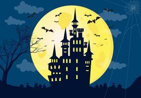 Haunted House Halloween Achtergrond vector