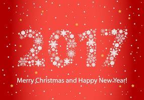 Gratis 2017 Nieuwjaar Achtergrond Vector