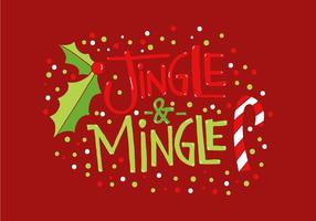 Jingle & Mingle Holiday Lettering vector