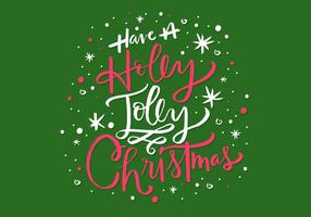 Holly Jolly Christmas Lettering vector