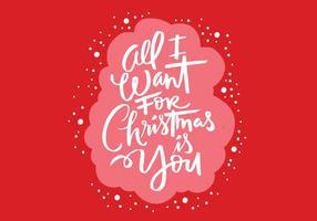 Alles wat ik wil voor Kerstborstelcript vector
