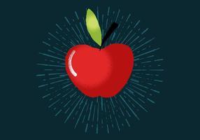 Stralende appel vector