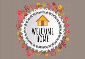 Welkom Home Fall Sign Vector