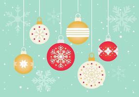 Gratis Vector Kerst Ornamenten