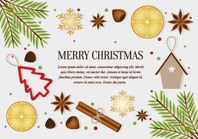Gratis Kerstelementen Achtergrond Vector
