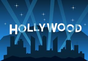 Gratis Hollywood Illustratie vector