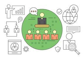 Management vector iconen