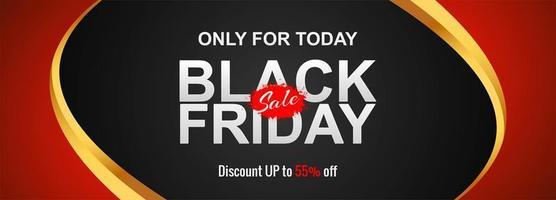 zwarte vrijdag verkoop concept banner achtergrond