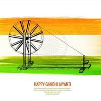gelukkige gandhi jayanti nationale feestdag op de achtergrond van india