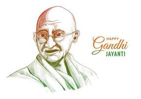 mahatma gandhi voor gandhi jayanti op witte achtergrond