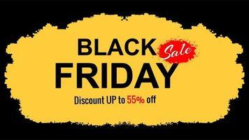 zwarte vrijdag verkoop beperkte aanbieding platte achtergrond