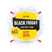 zwarte vrijdag verkoop poster lay-out banner achtergrond