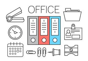 Gratis Office-iconen vector