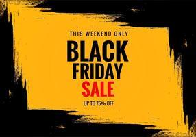 exclusieve zwarte vrijdag verkoop poster banner achtergrond