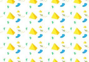 Gratis Piramide Naadloze Patroon Vectorillustratie