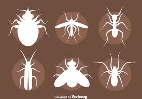 Insect silhouet vector set