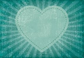 Grunge hart achtergrond vector