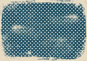 Leuke Blauwe Grunge Harten Achtergrond vector