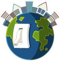 aarde uur campagne icoon
