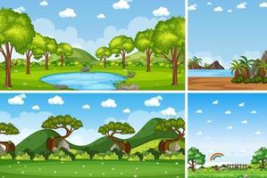 natuur landschap achtergrond instellen