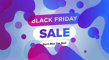 zwarte vrijdag verkoop banner vloeibaar blauw paars ontwerp vector