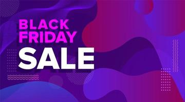 zwarte vrijdag paars roze vormen verkoop bannerontwerp vector