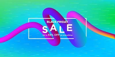 zwarte vrijdag verkoop moderne lint banner ontwerp