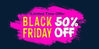 zwarte vrijdag verkoop bannerontwerp vector