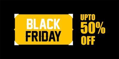 zwarte vrijdag verkoop banner ontwerpsjabloon vector