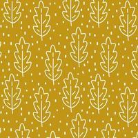 herfst naadloze patroon met bladeren vector