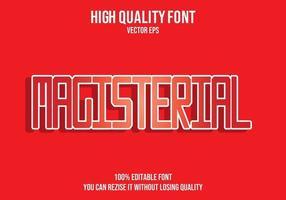 magistraal rood teksteffect