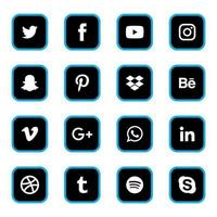 social media iconen vector