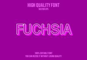 fuchsia bewerkbaar teksteffect vector